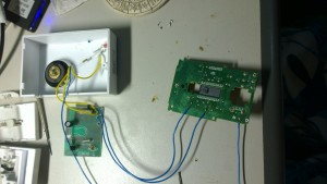 Wire to door bell receiver 2